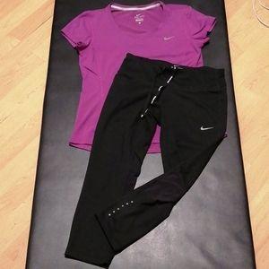 Nike combo t. Shirts & capris